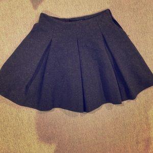 :: Grey Skater Skirt :: Zara